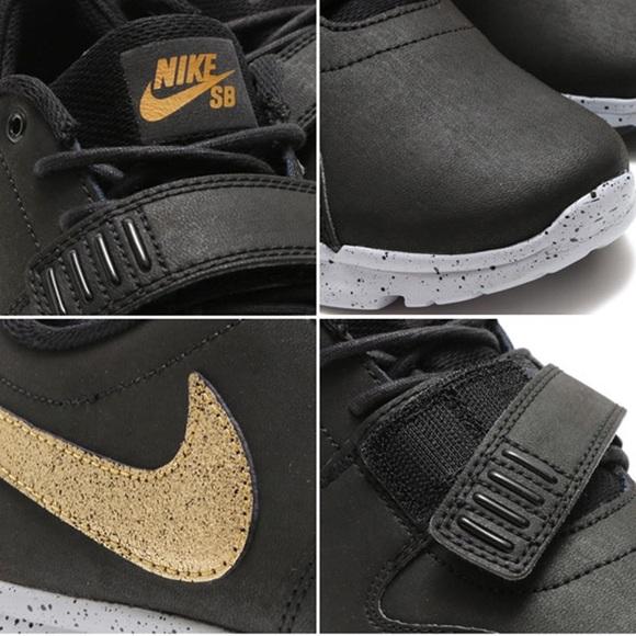 on sale f10ba b49a2 Men s New Nike SB Trainerendor Black Gold Grey 12.  M 5a455dfa45b30c89bc0e205b